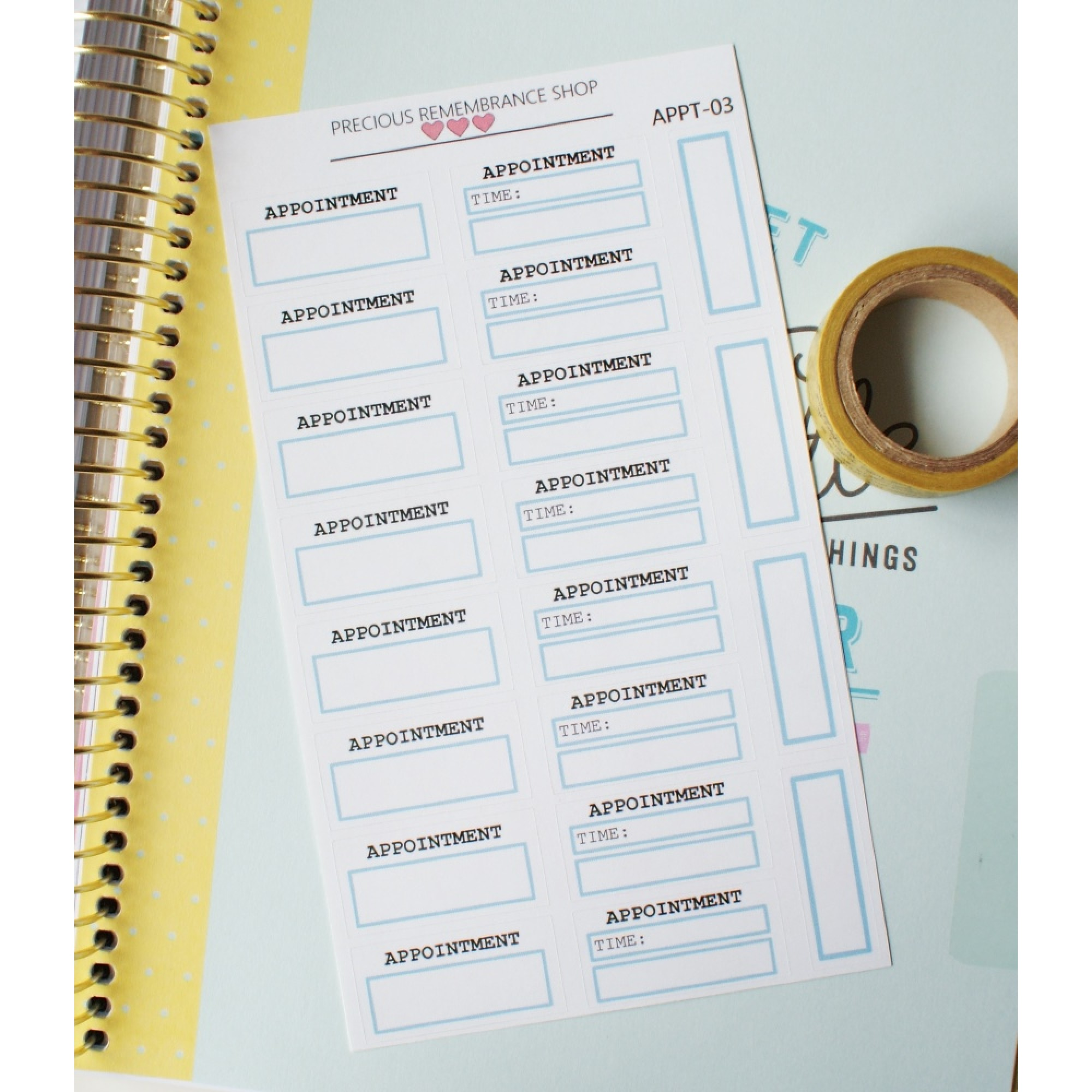 Appointment Stickers - Baby Blue | Appt-03
