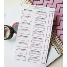 Appointment Stickers - Purple | Appt-08