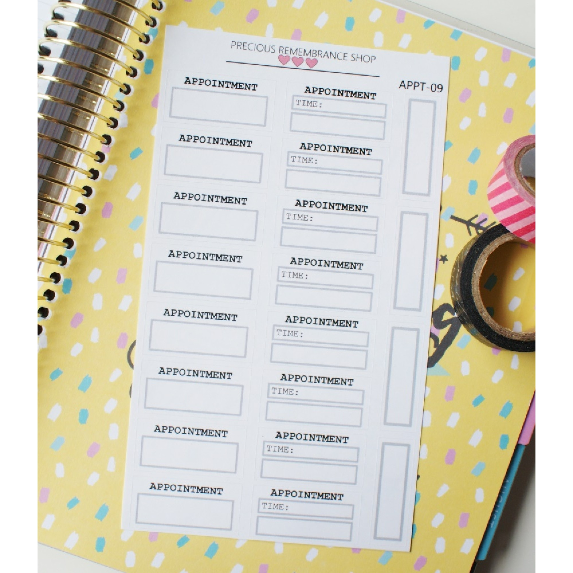 Appointment Stickers - Grey | Appt-09