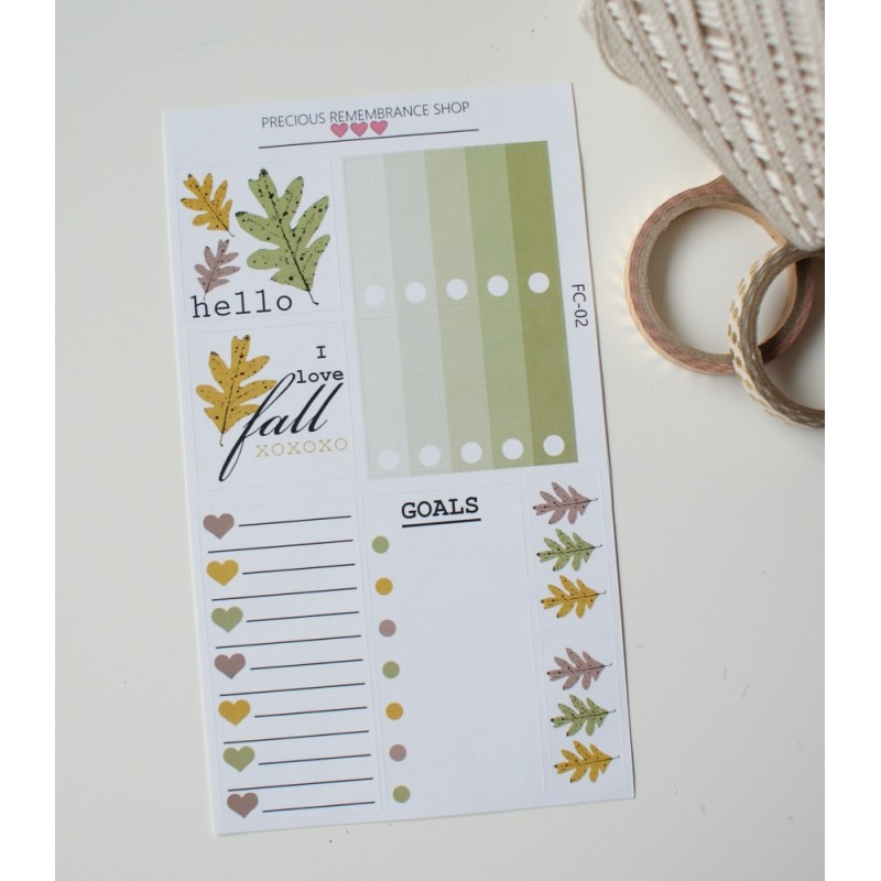 Fall Colors Stickers | FC-02