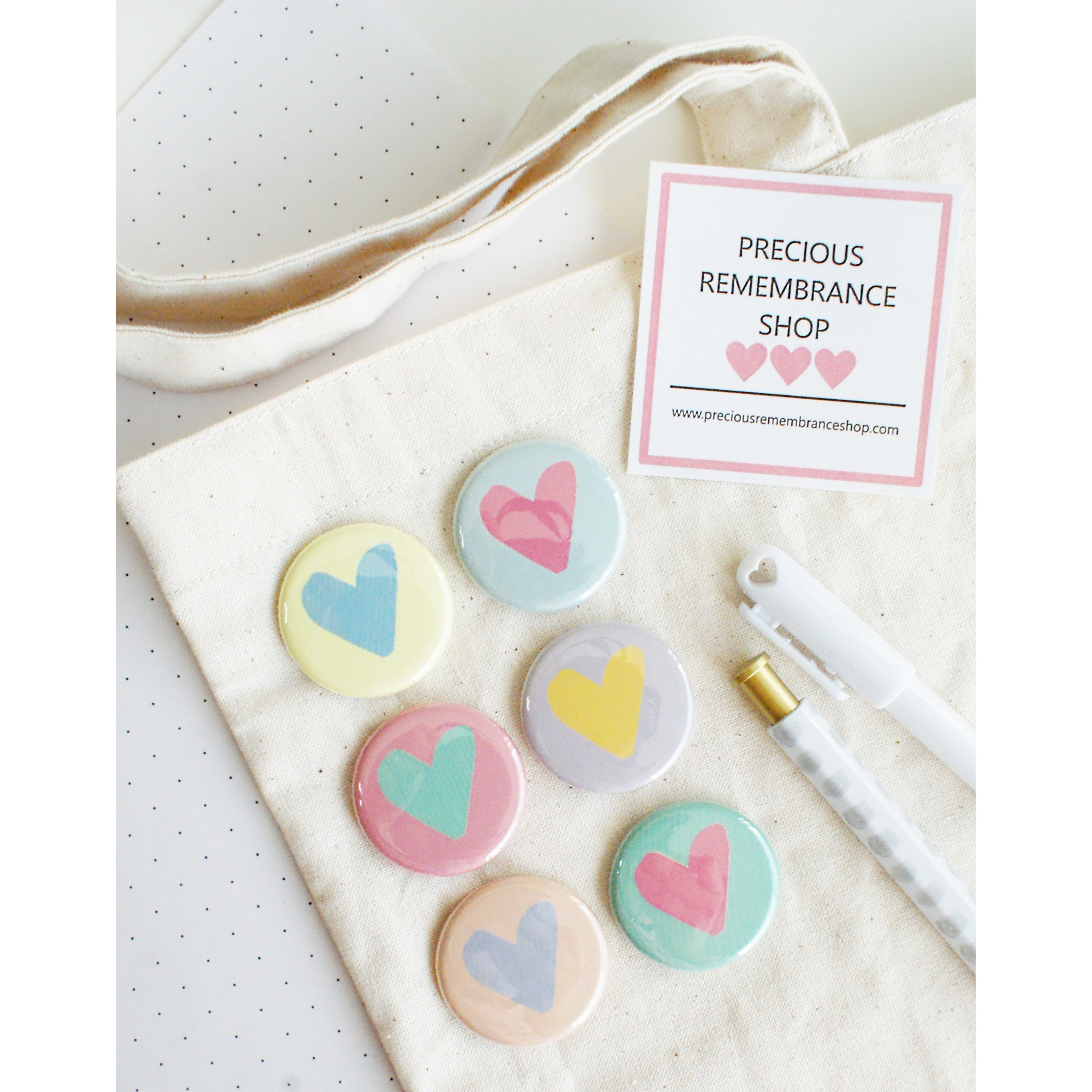 Lovely Hearts Flair Buttons