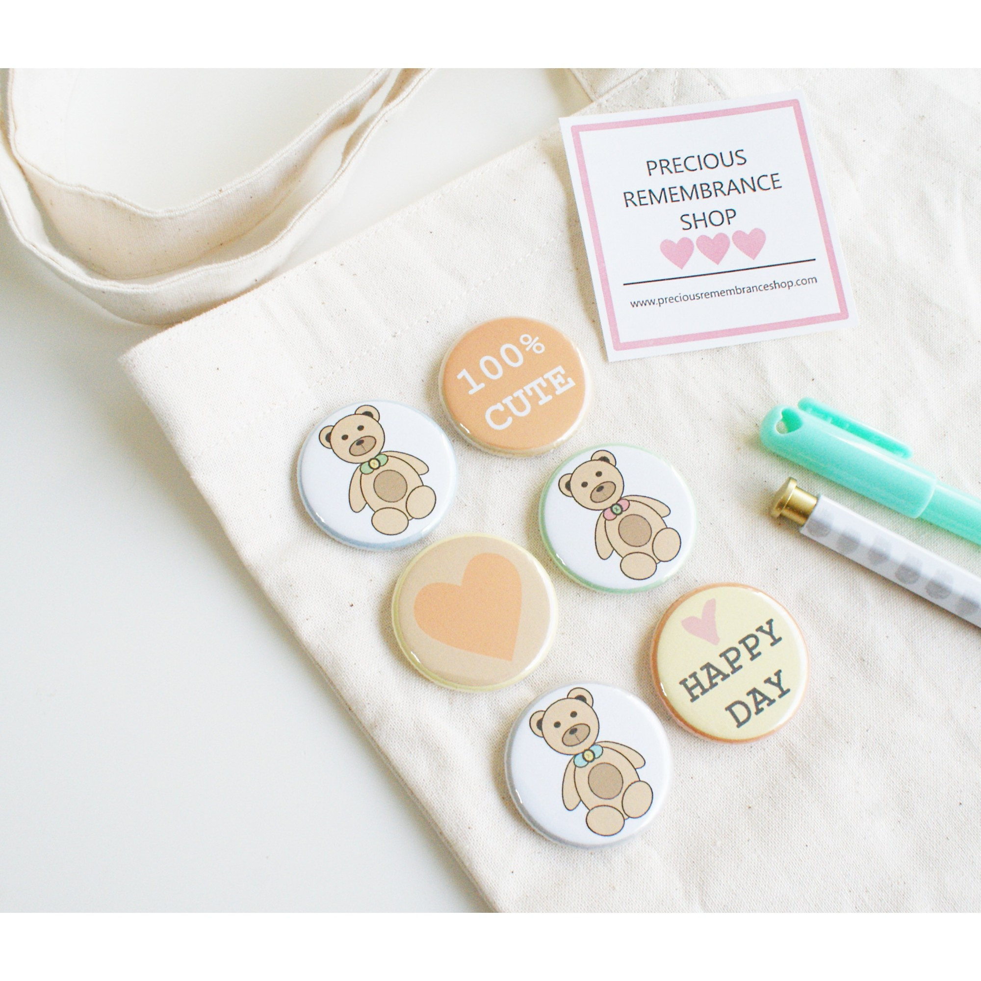 Bear  Flair Buttons