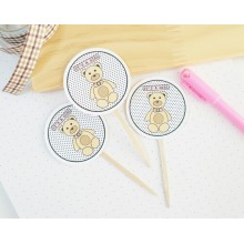 It's A Girl Cupcake Toppers   Bear