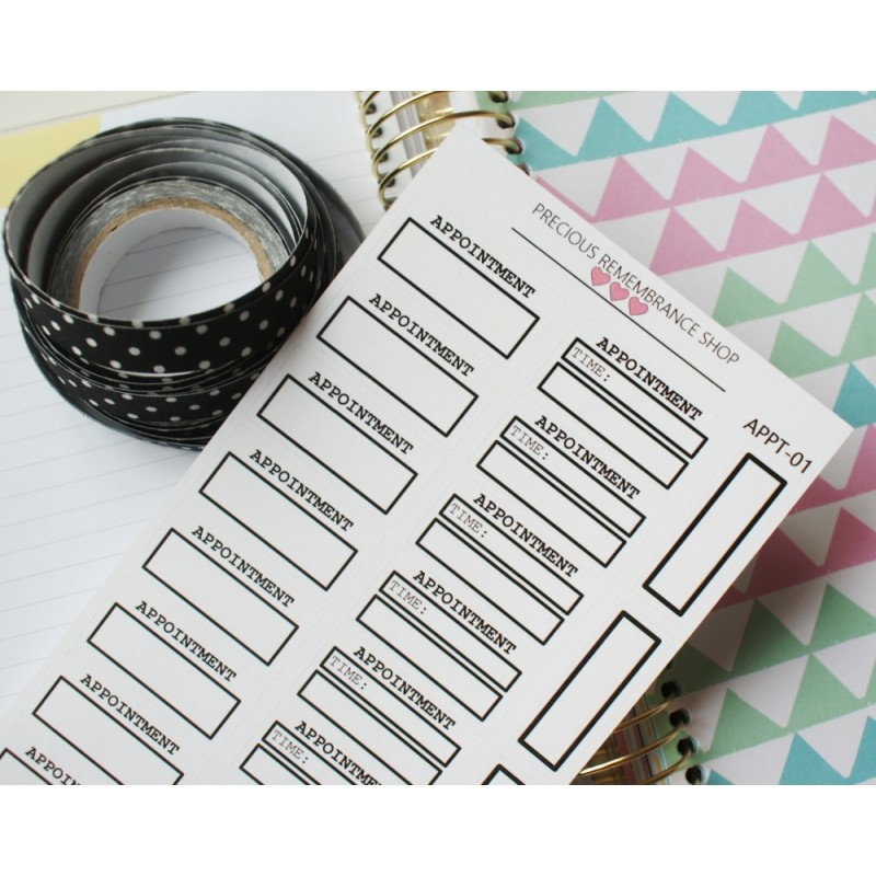 Appointment Stickers - Black | Appt-01