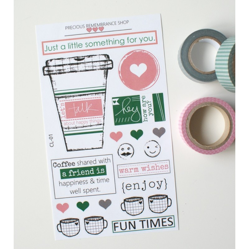 Coffee Love Stickers | CL-01