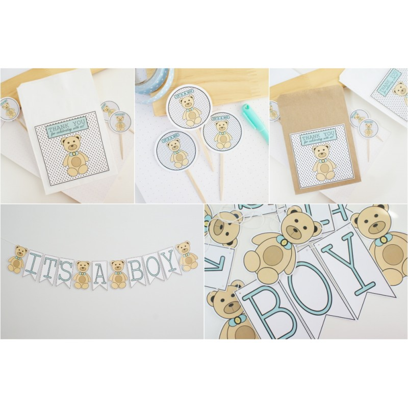 It's A Boy Party Kit | Bear